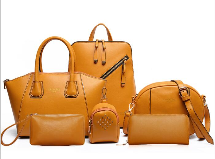 2017 wholesale pu leather women bags lady fashion handbag sets