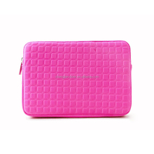 Promotional pink 14 inch laptop sleeve, customized logo neoprene laptop case