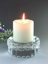 Fashion White Crystal Round Candleholder For Valentine Gifts
