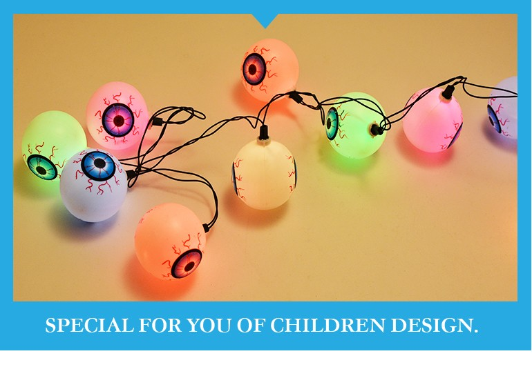 funny kids happy toy halloween outdoor led string light toy for party decoration