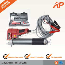 12V/24V electric grease gun from 15 years manufacturer, quick input for 600cc lubricant