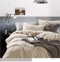 100% cotton solid washed bedding <strong>set</strong>