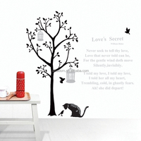 Home Decor Bedroom Mural Art PVC Wall Stickers Large