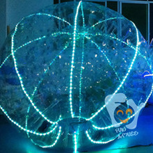 outdoor LED zorb giant pvc inflatable glitter ball for sale