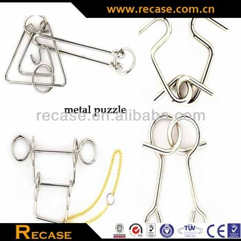Intellectual new design interlocking, 3D DIY cartoon metal puzzle toys