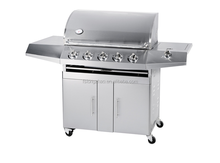 Top quality 5 burners stainless outdoor gas grill with oven
