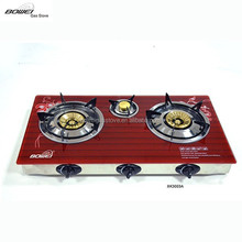 China wholesale high quality 3 burner free standing cover gas stove price