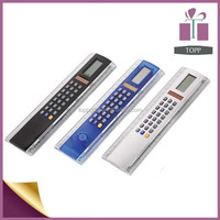 ABS 20cm ruler promotional gift calculator solar power calculator