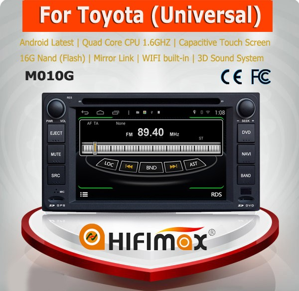 HIFIMAX Android 4.4.4 automobile dvd gps for Toyota universal car navigation for Toyota Camry with car accessories
