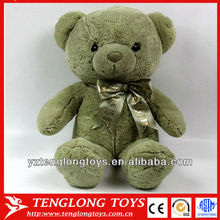 bottle green teddy bear plush toy with tie for gifts