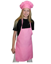 Kids custom white plain personalized Chef Set Apron and Hat wholesale