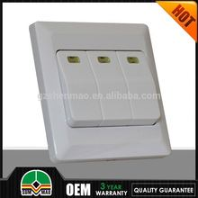 Product new vertical 3 gang one way dimmer switch selling good