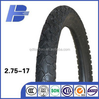 china supplier hot sale tyre casing and tube type 2.75-17 motorcycle tire