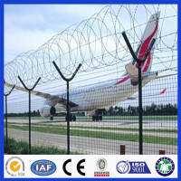 High quality airport security fence panel/ chain link fence for residential or commmercial application