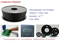 1.75/3.00mm Conductive ABS 3D printer Filament for FDM, MakerBot and Ultimaker 3D printers.( High quality) special Filament