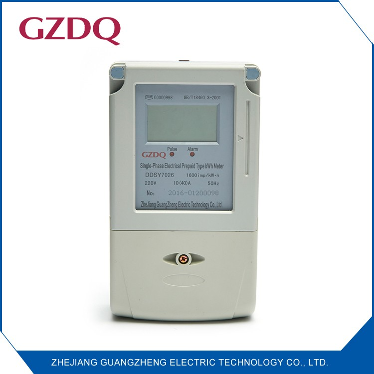China factory residential power meter single phase electronic prepaid meter for electricity parameters