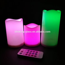 Rainbow color changing candles