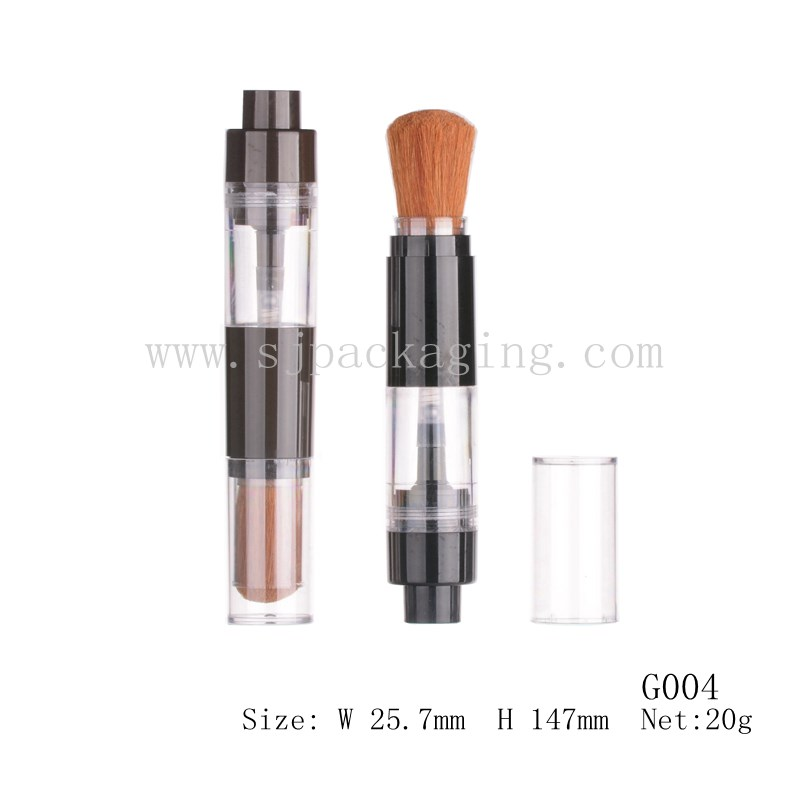 G004 20g transparent empty bottle empty loose powder case and brush