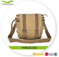 Vintage school shoulder bag, canvas messenger bag satchel shoulder bag for men