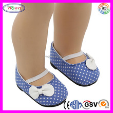 A700 Elastic Band White Dot Doll Accessories Shoes Factory Custom Doll Shoes Wholesale