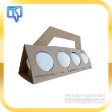 creative unique design egg paper packaging box with handle,egg packaging box with window,egg tart paper carton packaging box