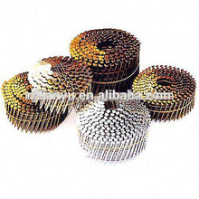 Manufacturering !Roofing Coil Nails,15 Degree Coating Coil Nails manufacturing coil nail making machine