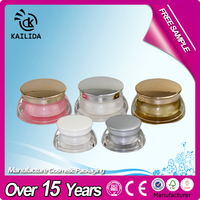 Crystal Acrylic Face Cream Jar Cosmetic Sample Containers