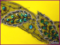 embroidery organza sequins beaded, sequin beads applique