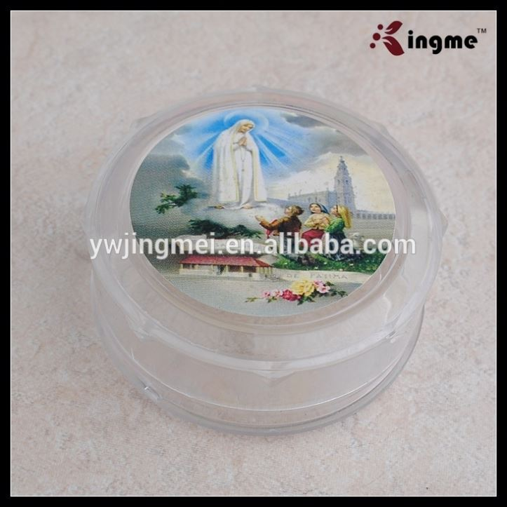 Fatima Rosary Necklace Plastic Packaging Box