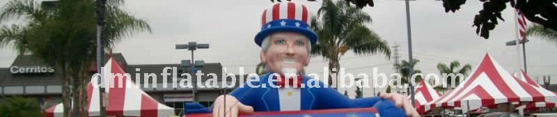 advertisement inflatable rooftop uncle sam