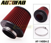 AUTOFAB -3'' INCH INLET HIGH FLOW SHORT RAM/COLD INTAKE ROUND CONE MESH AIR FILTER AF-14084-2