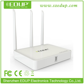 EDUP Best Wifi Router Chipset MTK7620A with USB Port and 3 6dBi Antennas