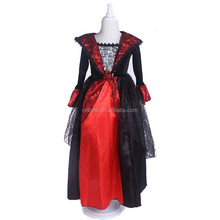 Wholesale red vampire costume long dress for party halloween costume ideas girls