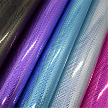 3D Shinny waterproof pvc imitation leather fabric for box bags