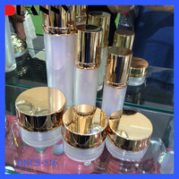 China 2016 New Acrylic Cosmetic Sets Container (15 30 50G)(15 30 50 80 120Ml) Small Round Acrylic Cream Jar