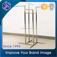 Price competitive garment shop names 4 way clothing display rack
