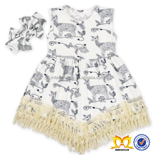 2017 Summer Deer Tassel Tunic Kids Beautiful Model Dresses Cute Baby Girl Names Images