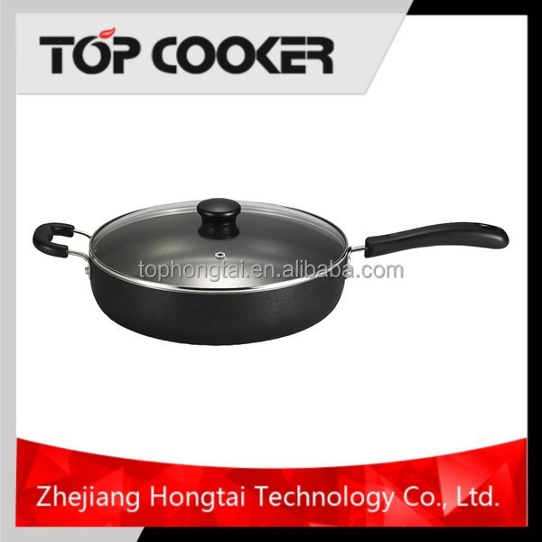 Aluminium Nonstick Coating Double Handle Deep Fying Pan