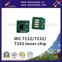 (TY-X7132T) toner cartridge chip for Xerox WorkCentre wc 7132 7232 7242 wc7132 wc7232 wc7242 006R01317/006R01318 24.3k 8k kcmy