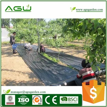 PP woven geotextile fabric 100gsm black green line for driveway environment protection plastic best service