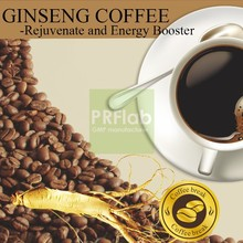 2015 hot selling arabica coffee bean ginseng coffee with oem and privat label