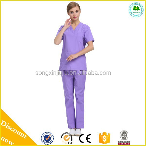 2015 Comfortable Medical Scrubs Uniforms With Your Own Logo