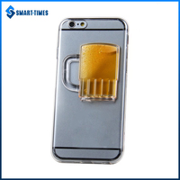[Smart Times] TPU Transparent Color Golden Beer Case for iPhone 6 TPU Cases