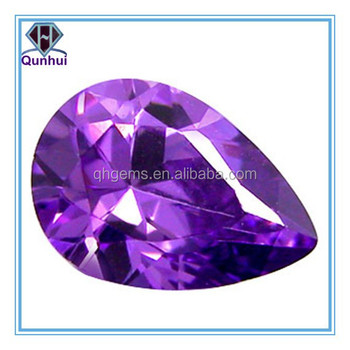 Fabulous Pear shaped Amethyst Cubic Zirconia Stone