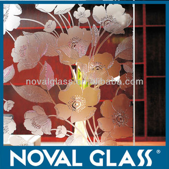 3-10mm Frosted Decorative Glass of over 100 Designs