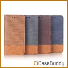 Casebuddy Cross wave color fighting wallet leather case for iphone 8,for iphone 8 leather flip case