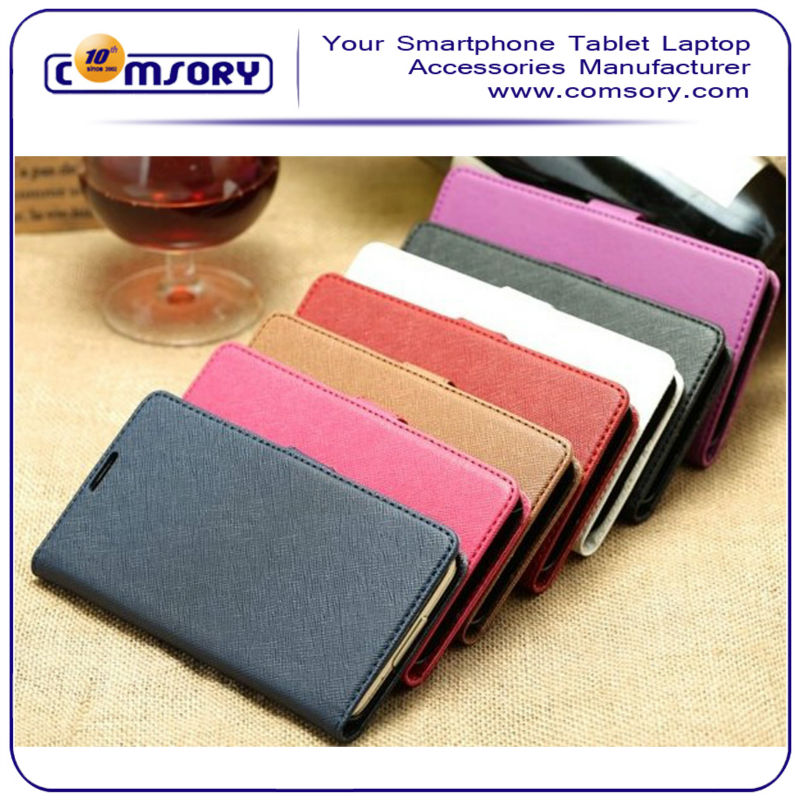 HIGH QUALITY Cross Pattern Leather Phone Case with card holder and stand function for Samsung Galaxy S5 i9600