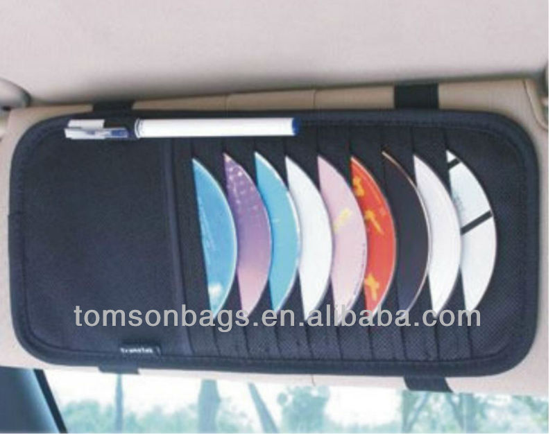 solar panel car visors CD holder CM009