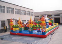 commercial jumping fun city, inflatable challenge inflatable kids fun city with balls