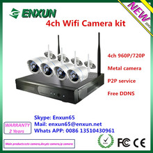 Wireless cctv camera system, enxun factory directry supply 1.0MP 1.3MP WIFI KIT